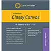 Fine Art Inkjet Canvas - Glossy - 8 1/2 x 11'' - 15 Sheets
