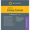 Fine Art Inkjet Canvas - Glossy - 11 x 17'' - 10 Sheets